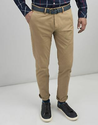 Joules Mens The Laundered Chino Slim Fit Trousers - BROWN