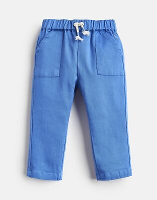 Joules Baby Ethan Lightweight Woven Twill Trousers - BLUE