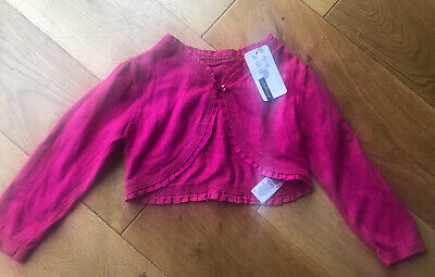 New-Girls Marks And Spencer's Autograph Pink cardigan 18-24 months 1.5-2yrs M&S