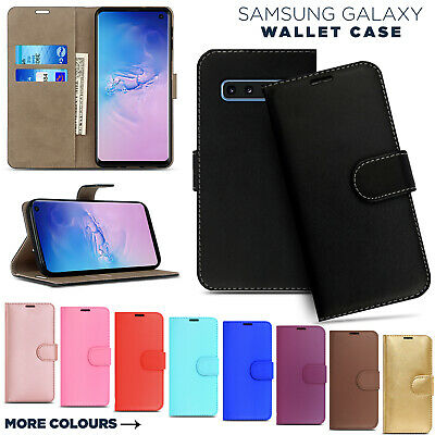 Luxury Leather Wallet Case Flip Phone Cover for Samsung S10 S9 Plus S8 Note9 J6