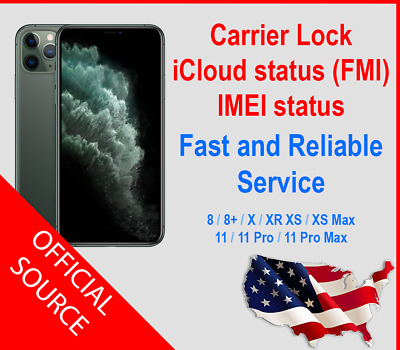 iPhone info Check - IMEI /Simlock /Carrier /Find My iPhone /Blacklist Status