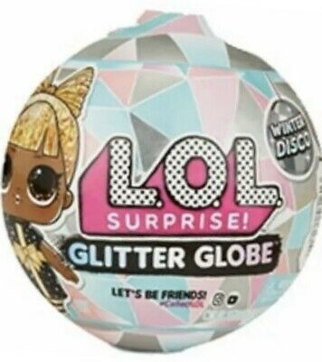 New Sealed L.O.L. Doll Surprise LOL Winter Disco Glitter Globe OMG lights Silver