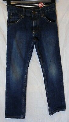 Boys Debenhams Dark Blue Denim Adjustable Waist Classic Fit Jeans Age 9 Years