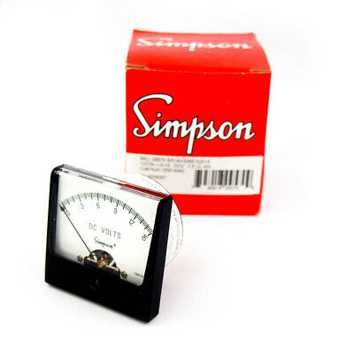 Simpson Electric 09570 Analog 15 VDC Panel Meter
