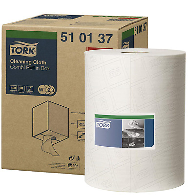 Tork 510137 Tork Cleaning Cloth / 1 Ply Multipurpose Disposable Cotton Towel for