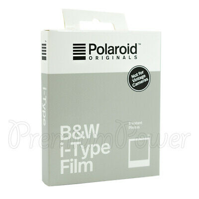 Polaroid B&W i-Type Photo Film Instant Photos White frame for new Polaroid BX8