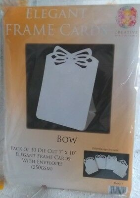 "Cards and Envelopes 7 x 10"" Frame Cards Pack of 10 Bow"