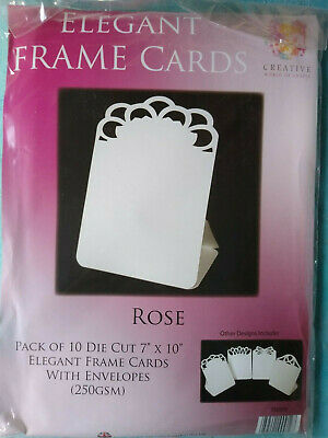 "Cards and Envelopes 7 x 10"" Frame Cards Pack of 10 Rose"