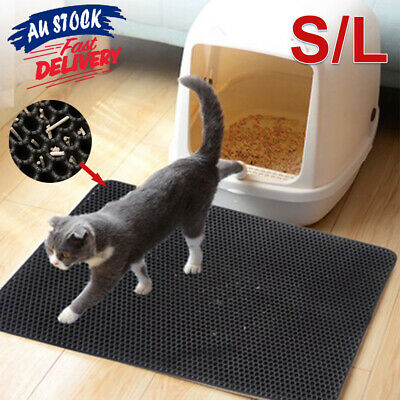 Trapping Design Honeycomb Waterproof Pad Mat Kitty Cat Double Layer Litter ACB#