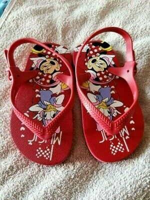 Minnie Mouse Disney Japan Beach Shoes Sandals Girl Uk 8/9, Eu 24/25 Disneyland