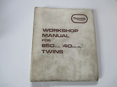 Manuel atelier Triumph 660 cc 40 ci 1972 Workshop manual Genuine