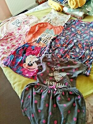 Minnie Mouse, Trolls Poppy Bundle Of 7 Items For Girl Size 4-5 Yrs Dresses Skirt