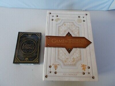 Game of Thrones Trono di spade box=40 postcard+100 card+playing cards 54 complet