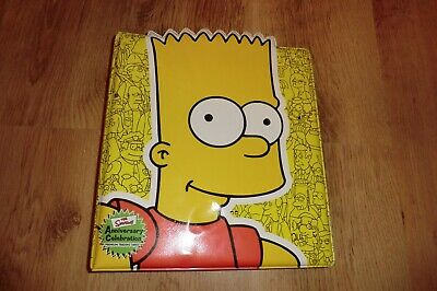The Simpsons Trading Cards Binder And Cards + Bonus Scooby Doo The Movie Cards