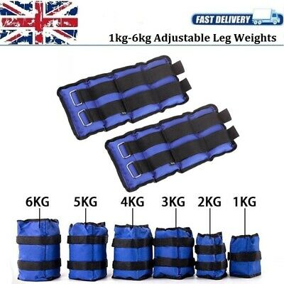 Adjustable Leg Weights 1kg-6kg Running Training Wrist Ankle Weight For Women Men