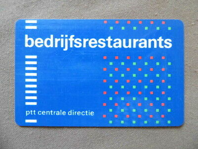 Magnetic Pay Card used PTT Bedrijfsrestaurants