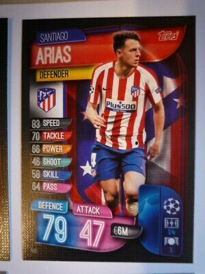 Topps Match Attax 2019/20 Athletico Madrid Arias Card Comb P&P