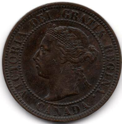 1 Cent 1899 Large Cent w/Doubled last '9' Grading EF45