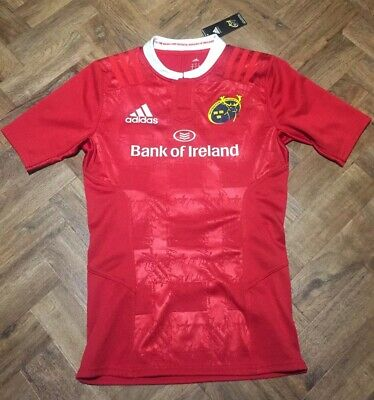 Womens Ladies Girls Munster Rugby Top Jersey Shirt Home New Bnwt Size 6/8 Adidas