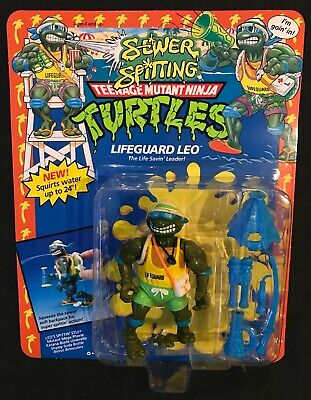 Vintage 1992 Teenage Mutant Ninja Turtles LIFEGUARD LEO figure - MOC TMNT