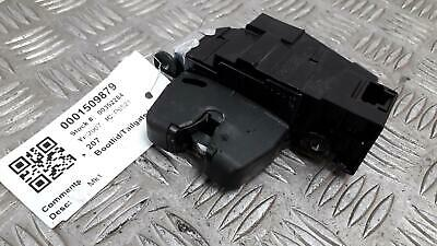 2007 PEUGEOT 207 Hatchback TAILGATE BOOT LATCH LOCK FREE P&P 9660403980