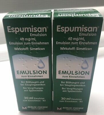2 X Espumisan L Drops 30ml - Baby Colic, Bloating Stomach Aches