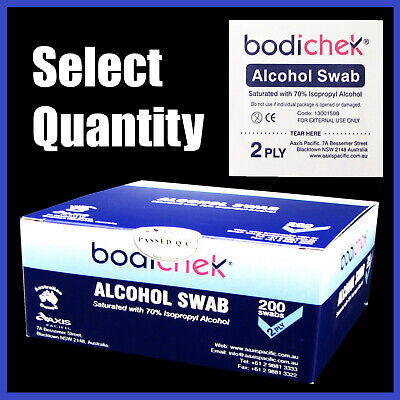 Bodichek Alcohol Wipes / Swabs / Pads, 25 to 1000 Medical - Sterile Isopropyl