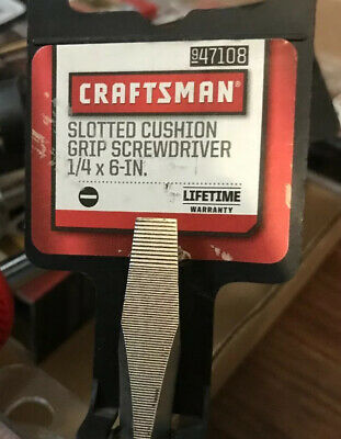 CRAFTSMAN Professional Screwdriver 1//4 Slotted 2 1//4 Inch Cushion Grip USA 47193