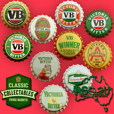 VB CLASSIC COLLECTABLE FRIDGE MAGNETS BOTTLE TOP COLLECTIBLES YOU CHOOSE 2x