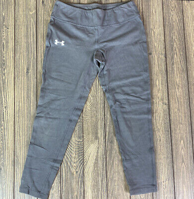 Under Armour Kids Fitted Heat Gear Gray Athletic Pants Size YL youth large capri