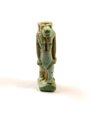 Egypt Late Period 26th-29th Dynasty a blue faience amulet of Taweret.