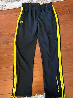 Boys Under Armour Black Athletic Pants Size M Medium Junior