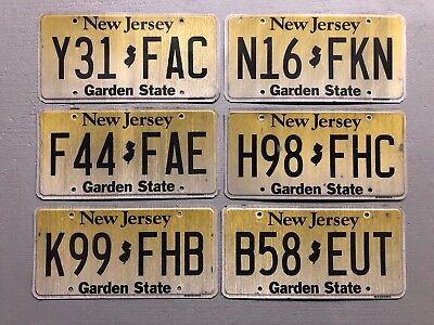 One New Jersey License Plate  Garden State Random Letters/Numbers Free Shipping
