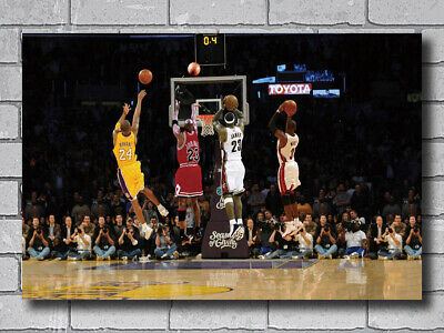 Hot Kobe Bryant Michael Jordan James MVP Custom Poster Silk Art Print 390
