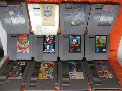 Lot of 18 Nintendo Nes Zelda Dr Mario Ninja Turtles Burgertime Wizards & Warrior