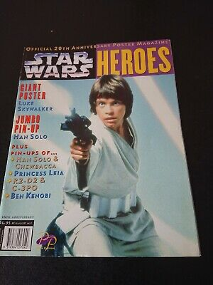 STAR WARS HEROES OFFICIAL 20th ANNIVERSARY POSTER MAGAZINE1997