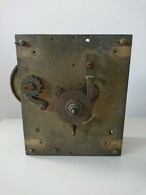 Genuine Antique Bracket Clock Fusee Movement For Restoration Spares Repairs