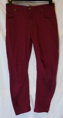 Boys Sonneti Designer Maroon Dark Red Denim Relaxed Fit Jeans Age 14-15 Years