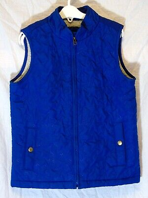 Girls Gap Royal Blue Quilted Fleece Lined Cubs Gilet Bodywarmer Age 10-11 Years