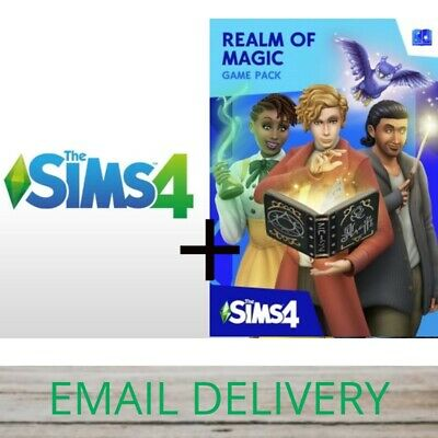 🎁The Sims 4 and Realm of Magic DLC🎁 PC/MAC Game Region Free WARRANTY