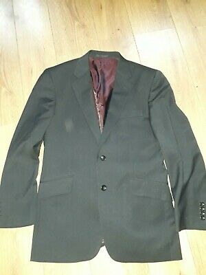 """Chester Barrie 100% Wool Grey Stripe Suit Chest 40 S W34"""" L30"""" - Vgc"""