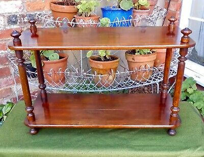 Lovely Victorian Walnut 2-Tier Wall/Freestanding Shelves~Display~Books~Desk Top