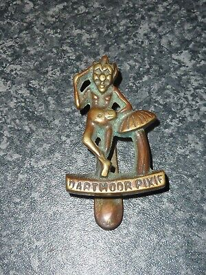 Early 20Th Century Dartmoor Pixie Brass Door Knocker Vgc