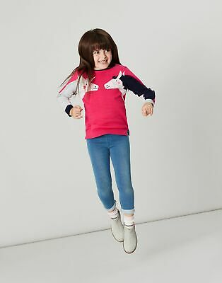 Joules Girls Geegee Intarsia Knit Jumper  - PINK DOUBLE HORSE