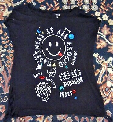 Justice Active For Girls Happiness Is All Around Graphic Shirt Top SIZE 12