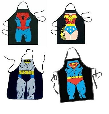 Superman Batman Wonder woman Spiderman new kitchen men cooking apron dc heroes