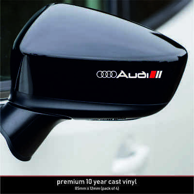 AUDI SPORT 10 Year Cast Vinyl Decals Stickers x 4-Premium Quality