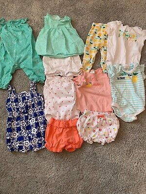 11 Pc Gymboree Summer Lot Baby Infant Girls 3-6 Months Outfits Shorts Shirts