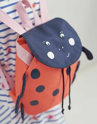 Joules Girls Buddie Character Bag in PINK LADYBIRDS