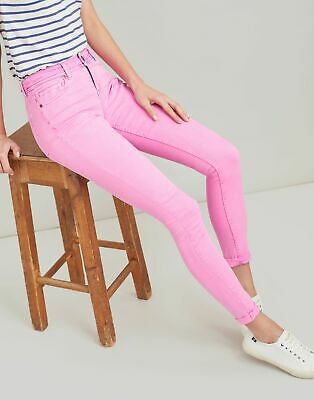 Joules Womens Monroe Skinny Stretch Jeans in LIGHT PINK Size 18